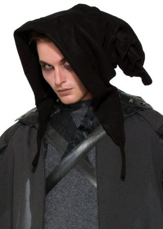 Adult Black Cowl Hood