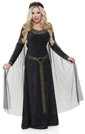 Adult Black/Gold Renaissance Lady Costume