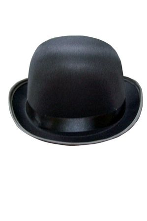 Adult Black Permasilk Bowler Hat