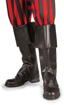 Adult Black Vinyl Pirate/Colonial Boot Covers