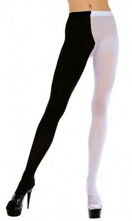 Adult Black/White Jester Tights