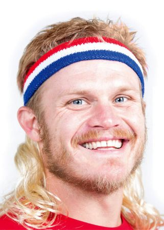 Adult Blonde Instant Mullet Headband