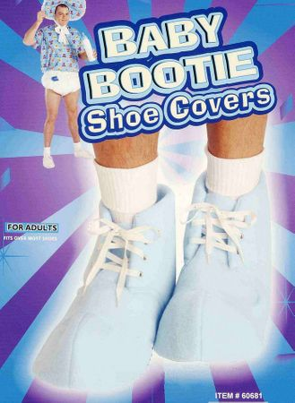 Adult Blue Baby Bootie Shoe Covers