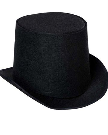 Adult Buildable Black Top Hat