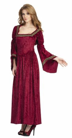 Adult Burgundy Renaissance Bella Hooded Dress Costume
