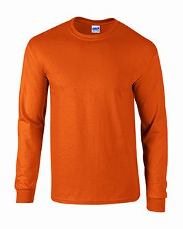 Adult Burnt Orange Long Sleeve Tee Shirt