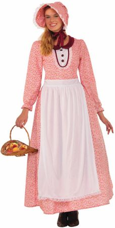 Adult Calico Print Pioneer Woman Costume, Size M/L