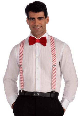 Adult Candy Cane Striped Suspenders