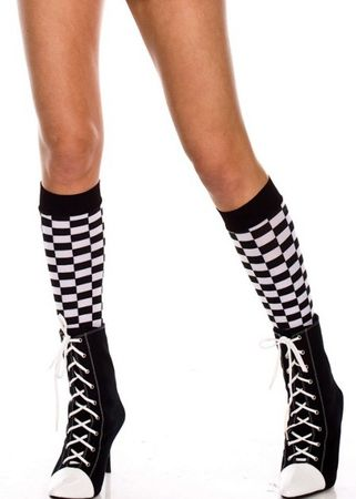 Adult Checkered Knee High Stockings