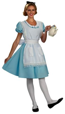 Adult Classic Alice in Wonderland Costume, Size M/L