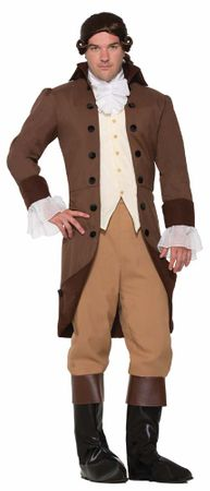 Adult Colonial Gentleman Costume, Size M/L