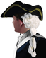 Adult Colonial Tricorne Hat With White Wig