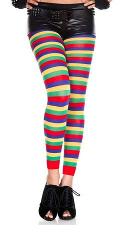 Adult Colorful Striped Leggings