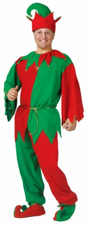 Adult Complete Elf Costume With Pants