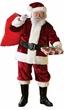 Adult Crimson Premier Plush Santa Claus Suit
