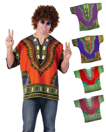 Adult Dashiki Shirt - Assorted Colors and Sizes