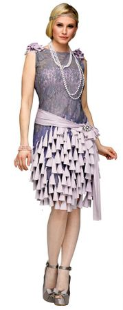 Adult Deluxe Daisy Buchanan Gatsby Bluebells Dress Costume