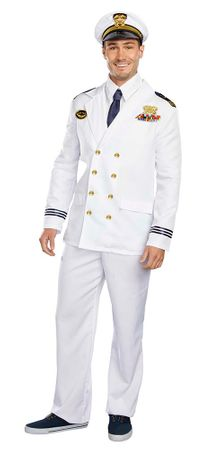 Adult Deluxe Naval Captain Costume