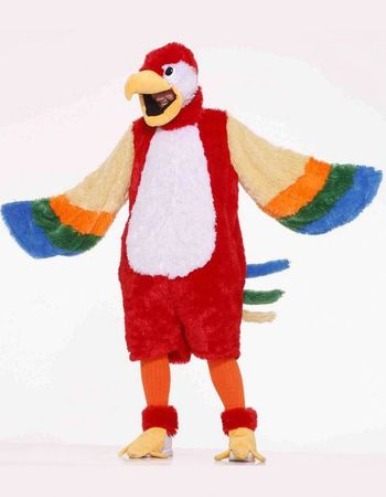 Adult Deluxe Plush Parrot Mascot Costume