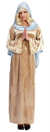 Adult Deluxe Virgin Mary Costume, Size M/L