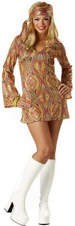 Adult Disco Dolly Go Go Dress