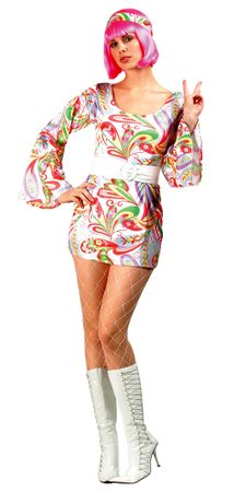 9d35d8e420b1 Adult Disco Dream Go Go Costume - Candy Apple Costumes - Women s 60s   70s  Costumes