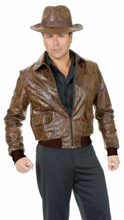 Adult Distressed Brown Adventurer Jacket, Size XL