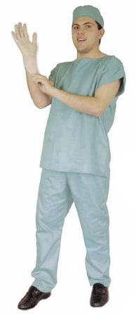 Adult Doctor Scrubs Costume, Size Large