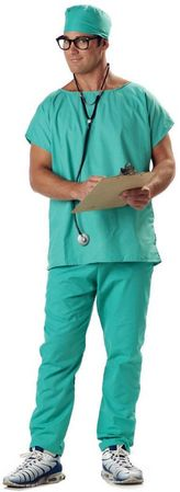 Adult Doctor Scrubs Costume  Stethoscope