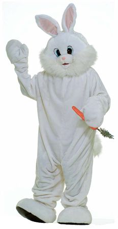 Adult Easter Bunny Plush Mascot Costume