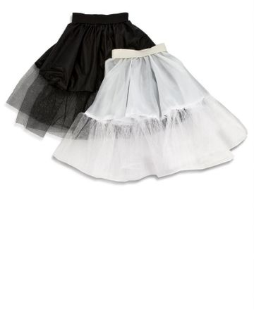 Adult Economy 22-Inch Petticoat - Black or White