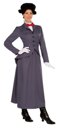 Adult English Nanny Victorian Costume, Size M/L