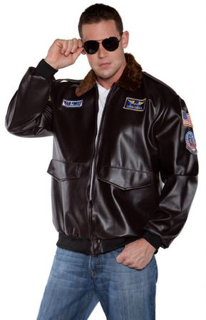 Adult Flying High Pilot Jacket Costume - XXL