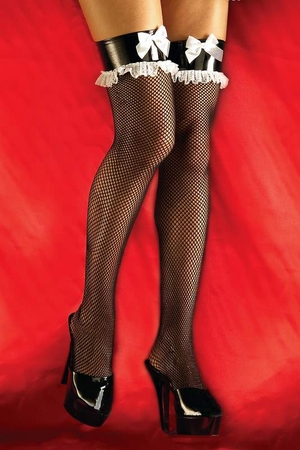 Adult French Maid Fishnet Thigh Highs