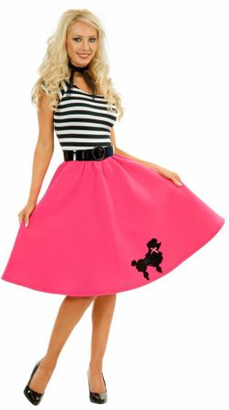 Adult Fuchsia Poodle Dress Costume