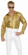 Plus Size Gold Holographic Disco Shirt