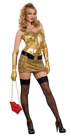 Adult Women's Gold Honey Costume, Size Small