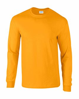 Adult Gold Long Sleeve Tee Shirt