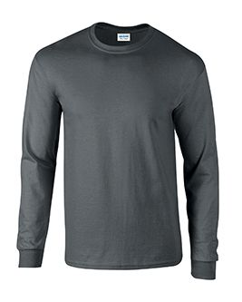 Adult Gray Long Sleeve Tee Shirt