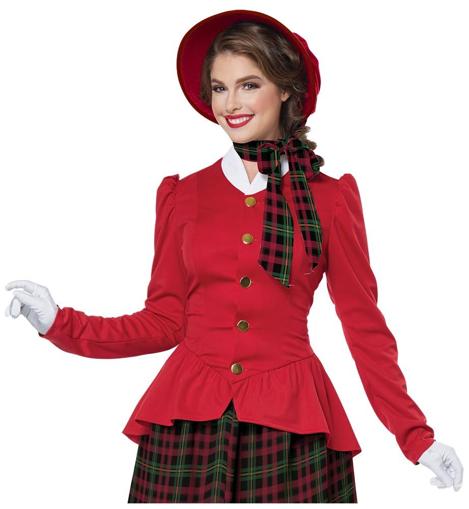 Adult Holiday Caroler Woman Costume · Adult Holiday Caroler Woman Costume