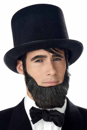 Adult Honest Abe Dark Brown Beard