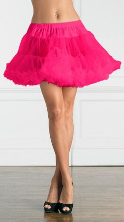 Adult Hot Pink Layered Tulle Petticoat