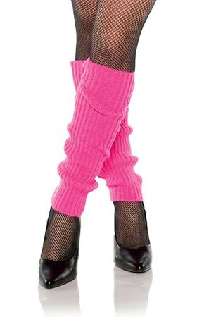 Adult Hot Pink Ribbed 80's Leg Warmers