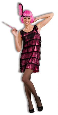 Adult Jazzy Hot Pink Flapper Costume