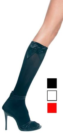 Adult Knee High Stockings with Bows - More Colors