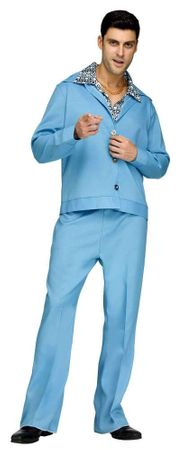 Adult Light Blue 70's Leisure Suit Costume