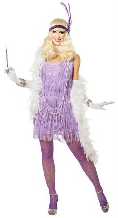 Adult Lilac Snazzy Flapper Costume