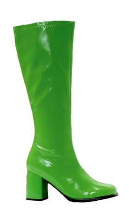 Adult Lime Green Go Go Knee Boots