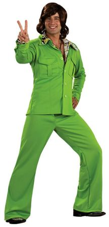 Adult Lime Green Leisure Suit Costume, Size M/L