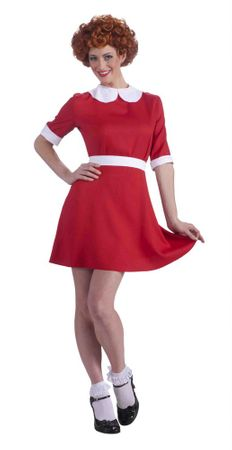 Adult Little Orphan Annie Costume, Size M/L